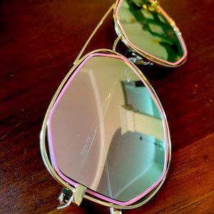 ASOS Sojos Pink and Gold Sunglasses